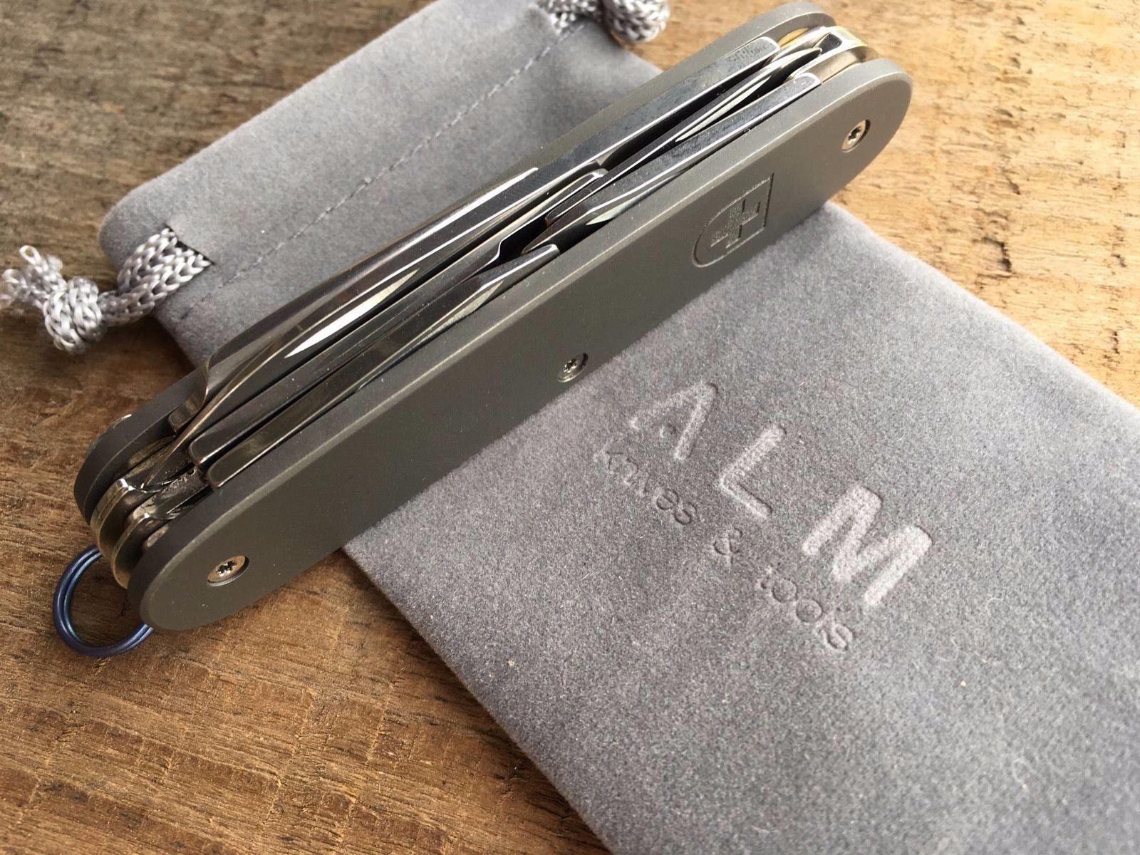 Alm Custom Titanium 93mm Pioneer X With Pocket Clip