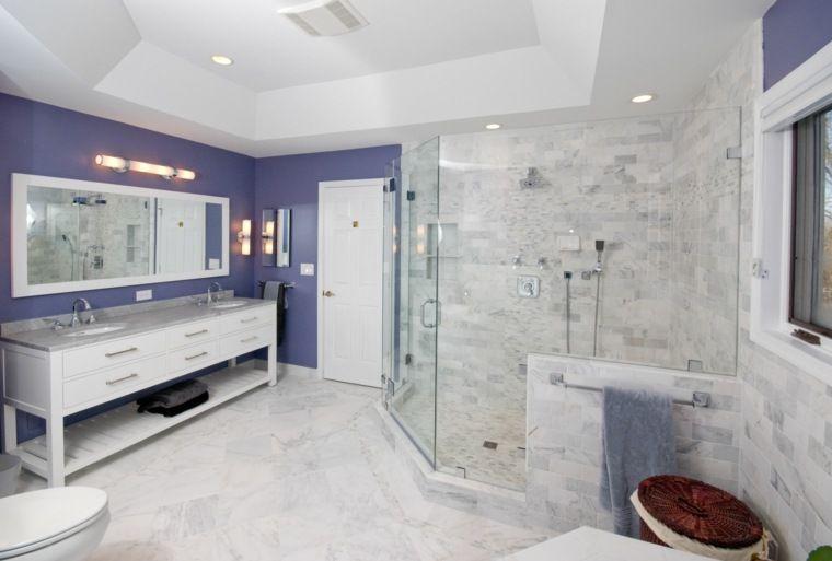 Plafond salle de bain  peinture et style en 40 idées Salle de