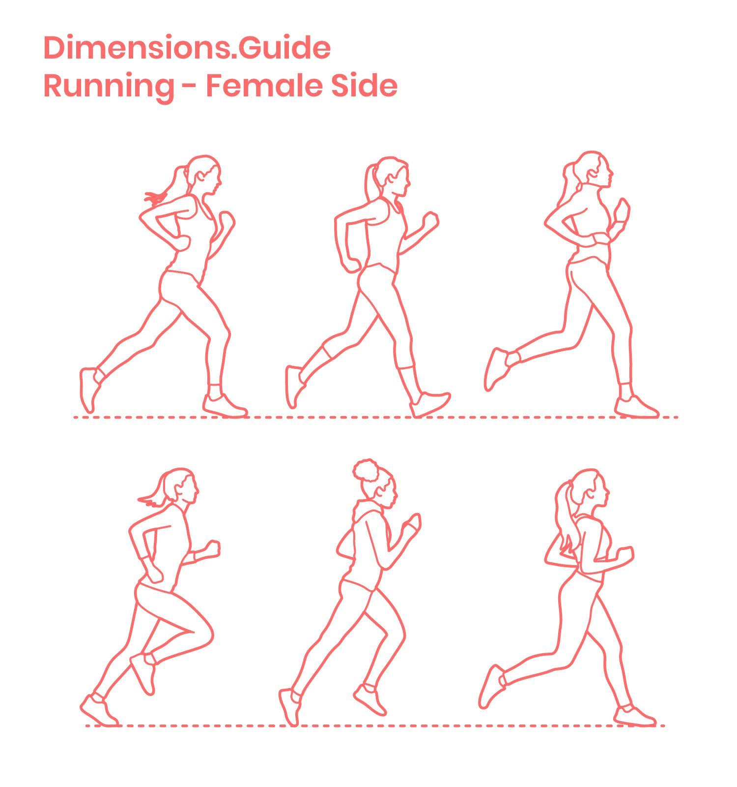 Running Side Female Running Illustration Human Figure Sketches Silhouette Drawing