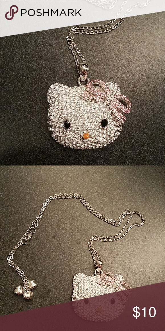 Hello kitty bling necklace Very sparkly Jewelry Necklaces