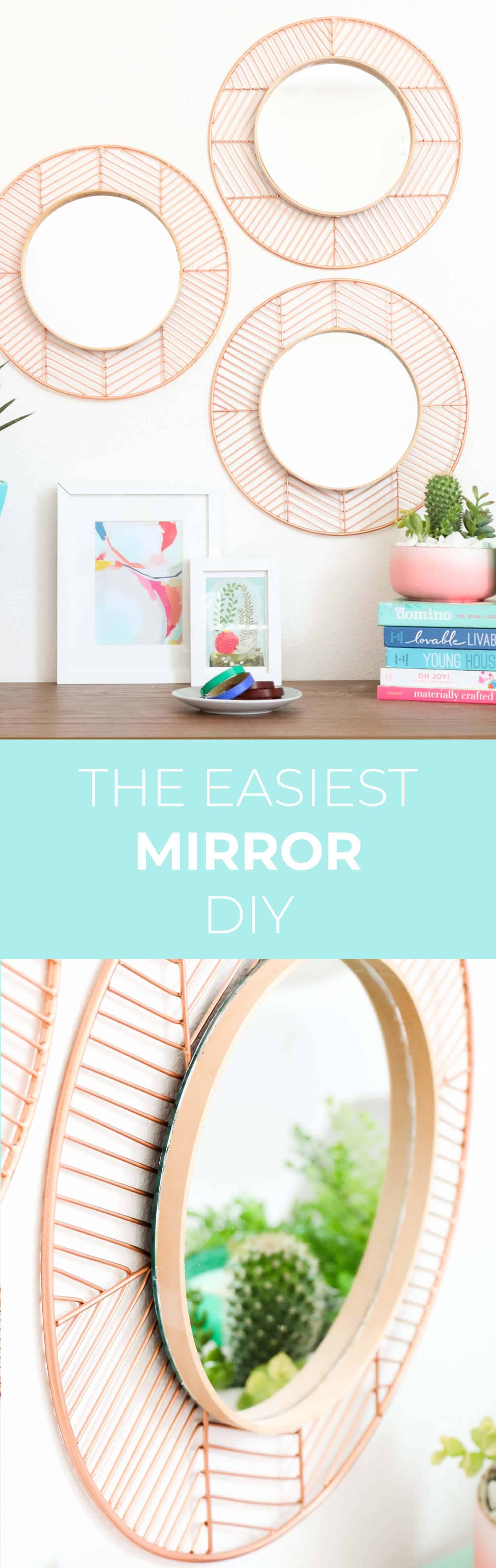 Diy Easy Geometric Copper And Wood Mirrors Mirrors Pinterest