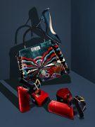 SJP by Sarah Jessica Parker's pump at Bloomingdale's, Fendi's Peekaboo bag at Neiman Marcus and Prada's platforms.