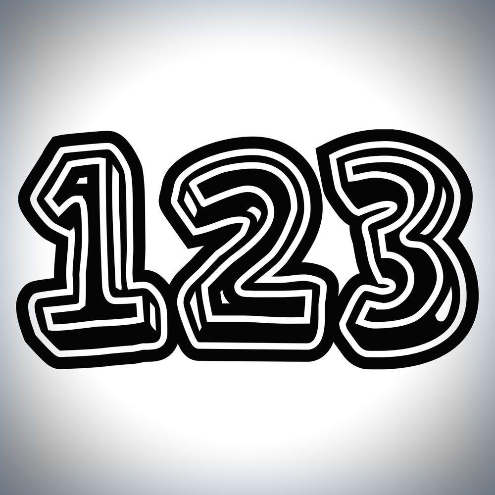 X Custom Race Numbers D Style Vinyl Stickers Dirt Bike Motocross - Custom vinyl decals for bikes