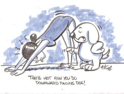 Image result for Downward dog cartoon