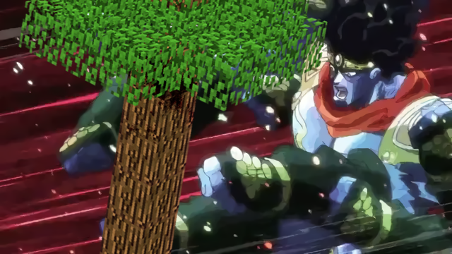 Star Platinum Punching A Minecraft Tree Jojo S Bizarre Adventure Jojo Bizarr