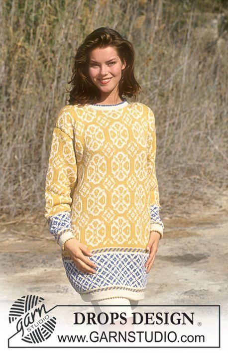 Drops 37 12 Drops Jumper With Wheel Pattern In Muskat Soft Size S L Free Pattern By Drops Desig Drops Design Sweater Knitting Patterns Sweater Pattern