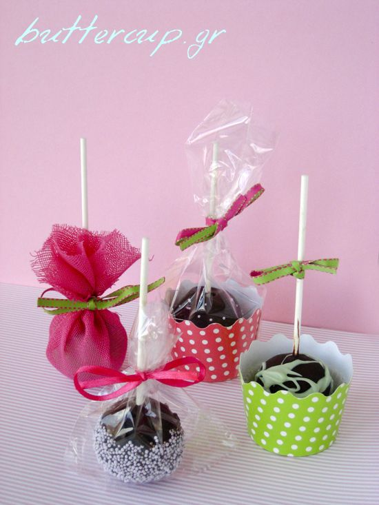 Cake Pop Packaging Wtr Jpg 550 733 Pixeles Manzanas Decoradas De