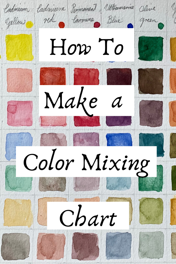 How To Make A Color Mixing Chart Art Studio Life Watercolor Acrylic Oil In 2020 Color Mixing Chart Color Mixing Chart Acrylic Color Mixing