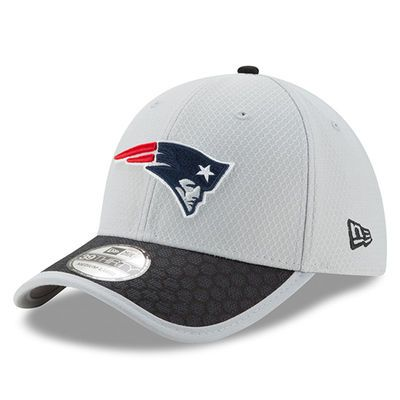 save off 9c34a 3a380 New England Patriots New Era 2017 Sideline 39THIRTY Flex Hat - Gray