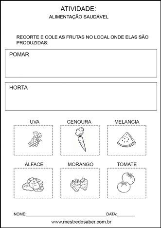Projeto Alimentacao Saudavel Para Educacao Infantil Projeto