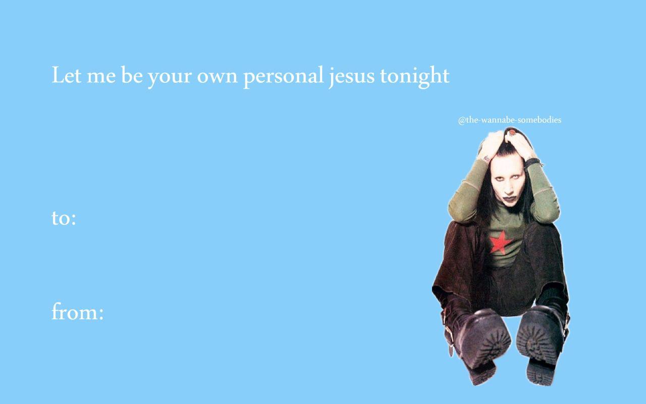 The Wannabe Somebodies Valentines Memes Marilyn Manson Stupid Valentines Cards