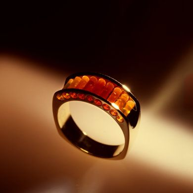Very much like my ring but different stone but this pic show the way the stones glow in the light!