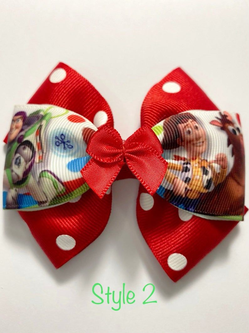 Toddler Bow Toy Story Bow Toy Story Hair Bow Woody Bow Girls Toy Story Clip Layered Toy Story Bow Toy Story Barrette Woody Barrette