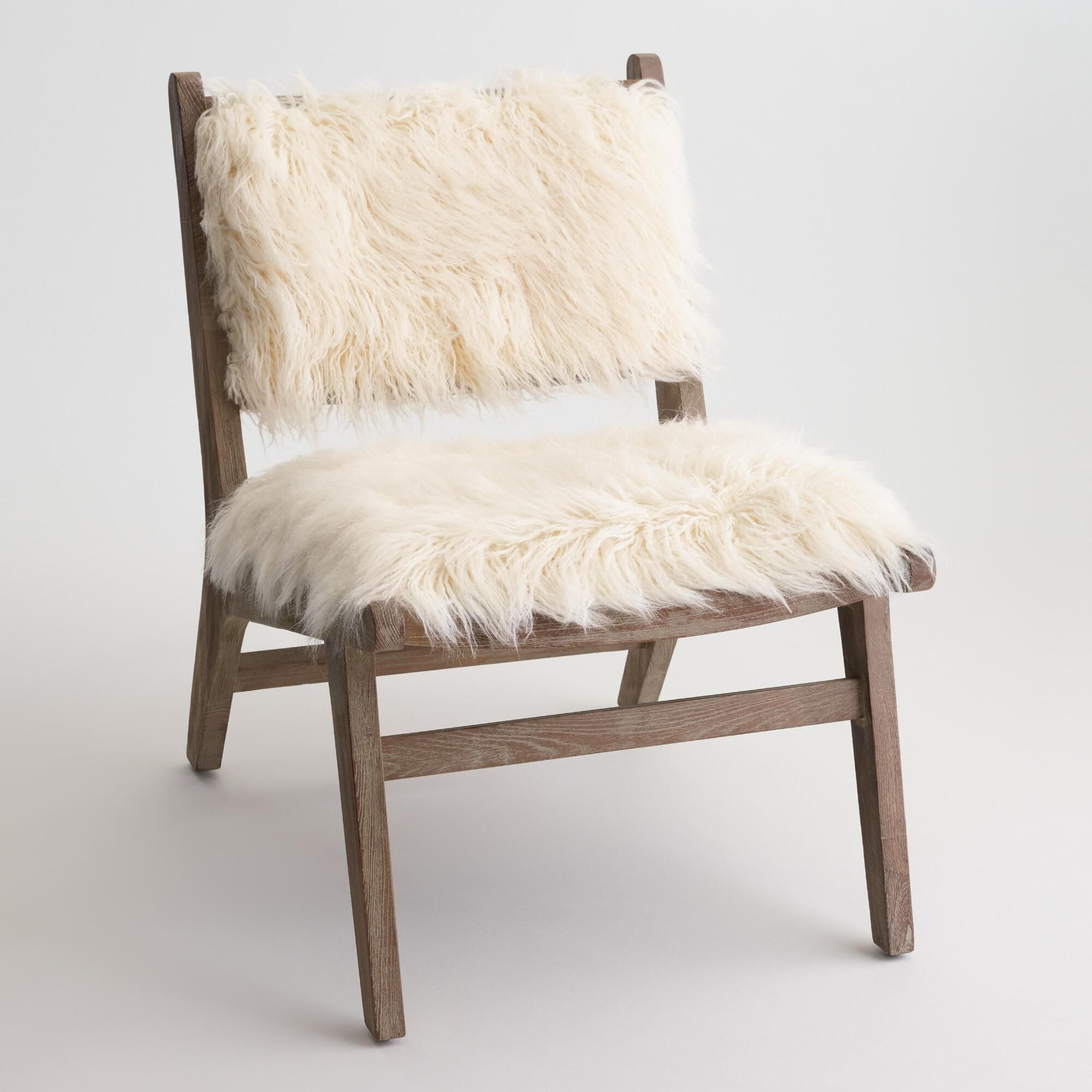 wood frame accent chairs. Our Cozy Accent Chair Features An Exposed Elm Wood Frame With A Distressed Gray Wash Finish And Soft Faux Flokati Upholstery For Boho-chic Look. Chairs