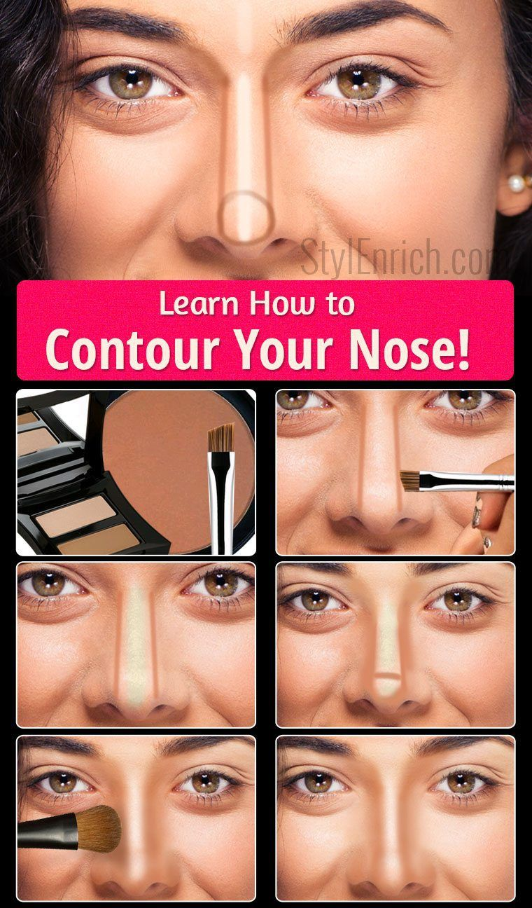 I like how this is a specific contour guide just for your nose contour face baditri Images