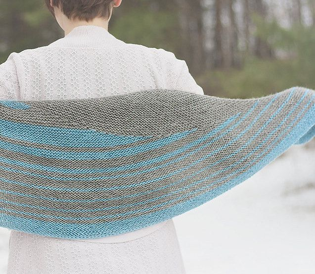 1f112cca7 Striped Shawl Knitting Pattern Design Your Own Crescent Shawl by  TheNoisyFlapper on Etsy