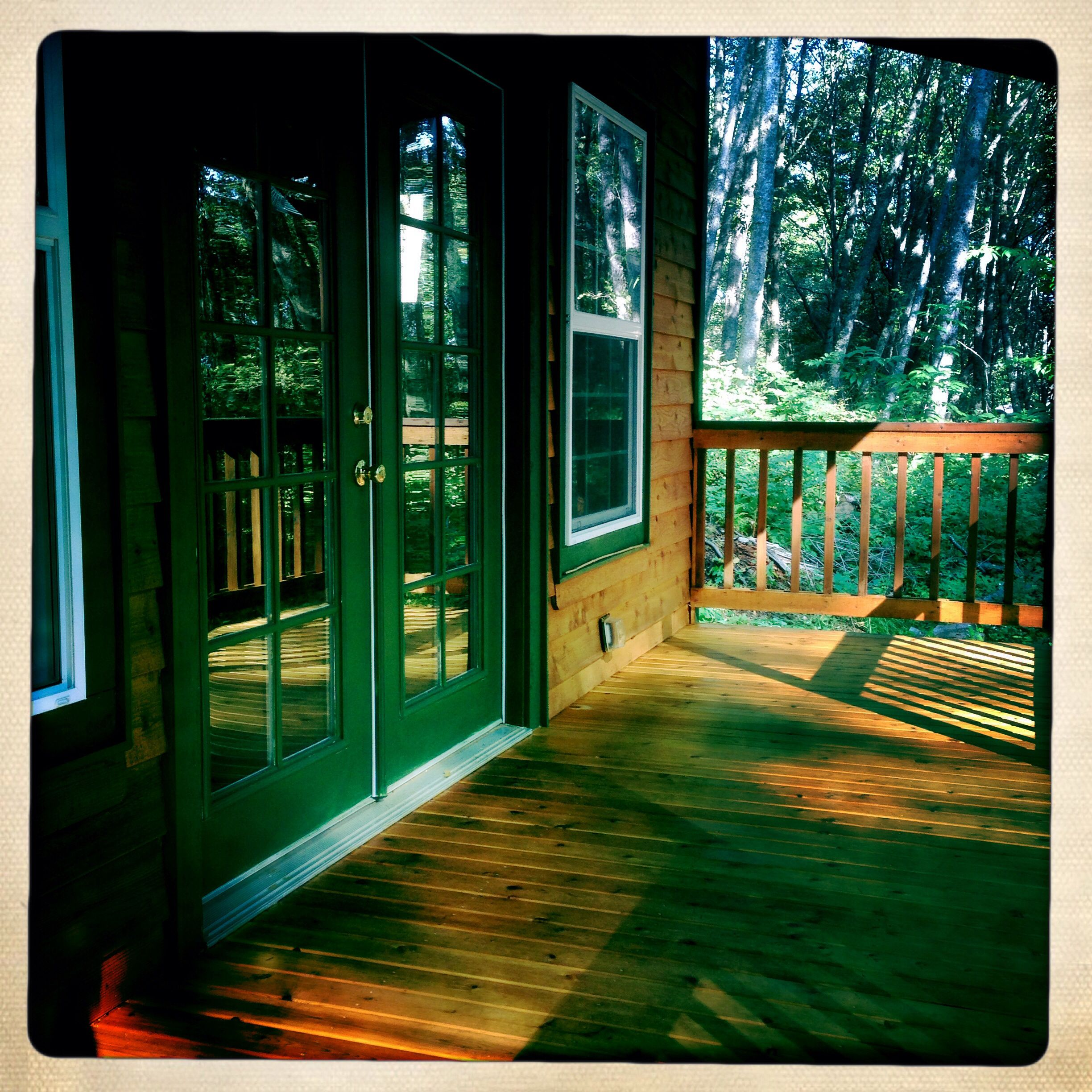 Porch, adds more usable area and is great for just relaxing.