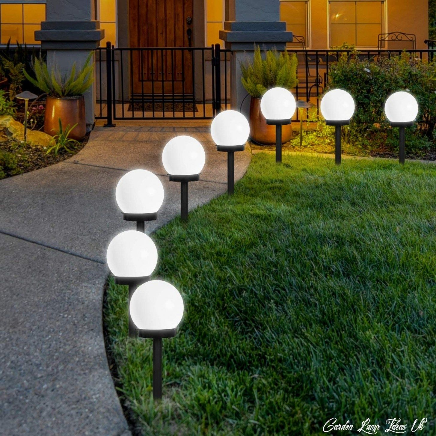 11 Garden Lamp Ideas Uk In 2020 Outdoor Globe Lights Solar Fence Lights Solar Lights Garden