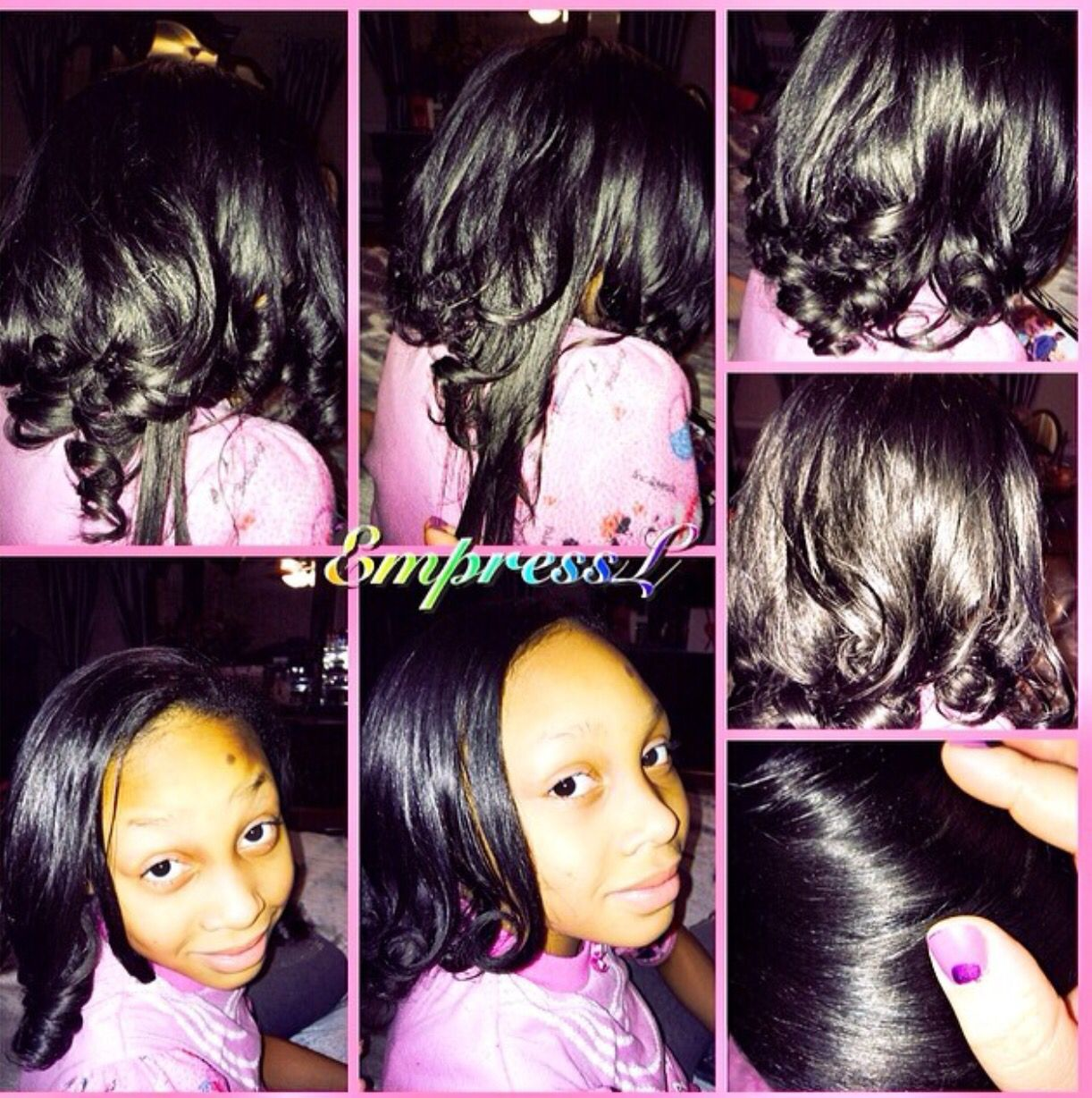 Maintaining a straight style on my daughterus natural hair we use