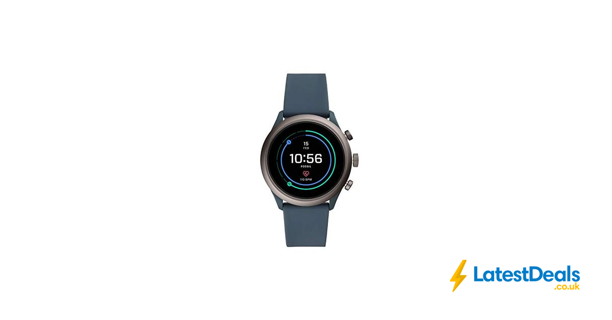 *SAVE £160* Fossil Mens Smartwatch with Silicone Strap, £