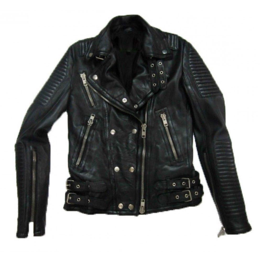 5d73aa18d Men Handmade Original Leather Black Jacket,Men Brit Cropped Biker ...