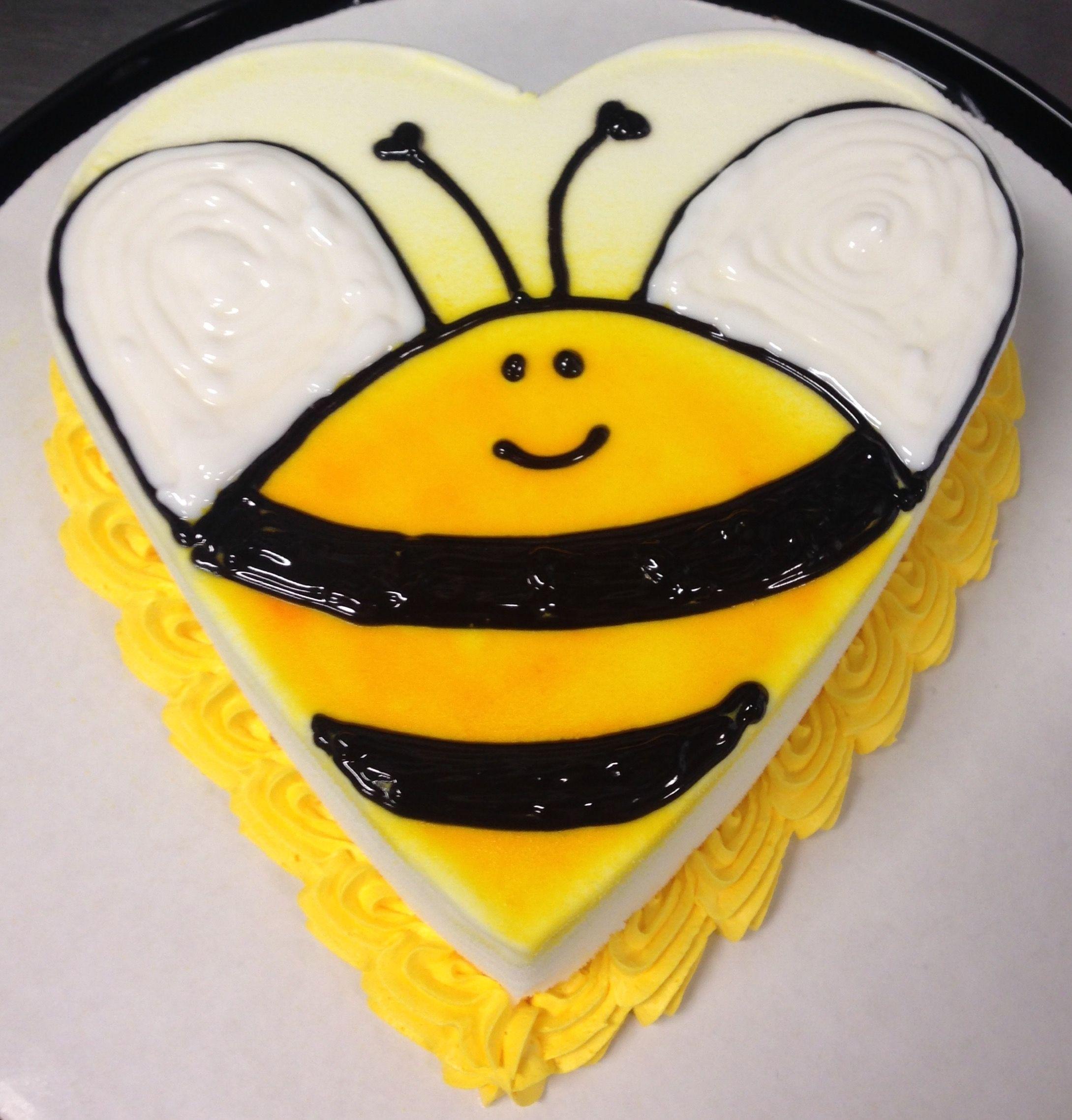 Bumblebee dq mini heart ice cream cake dairy queen ice