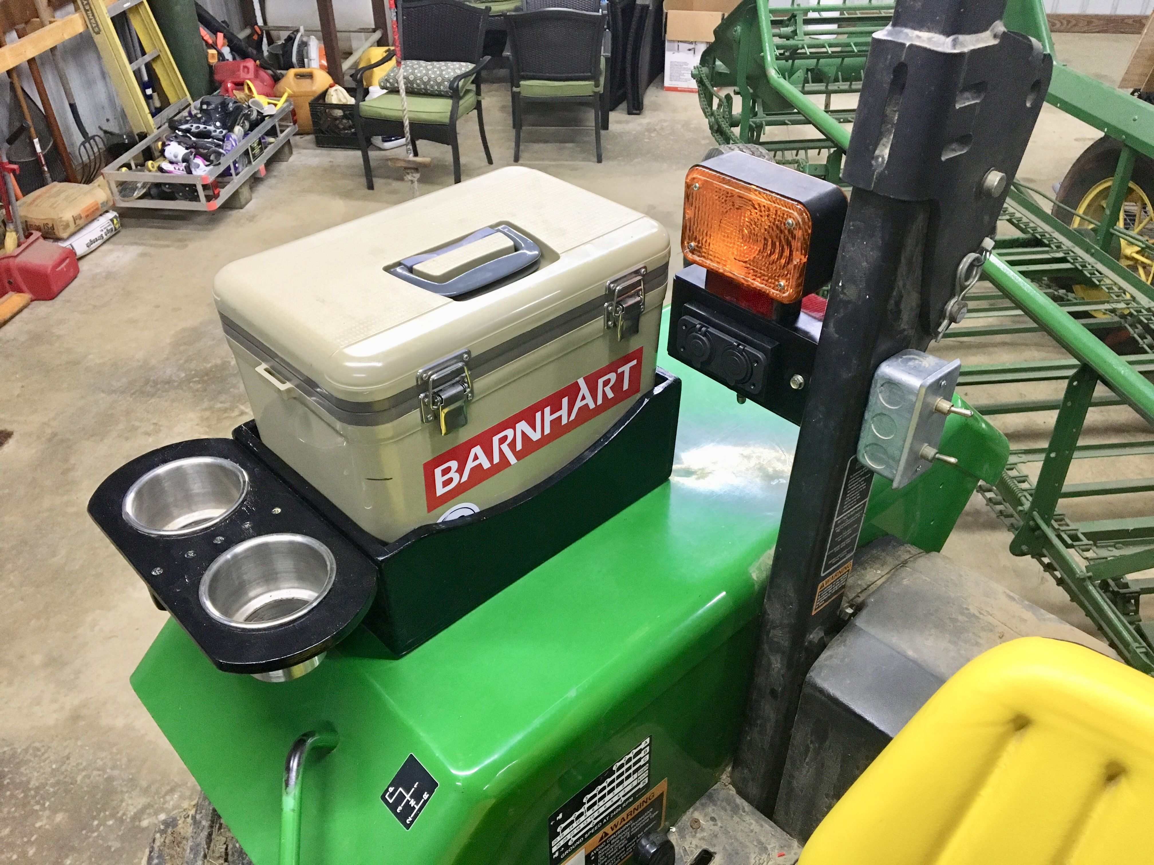 Cooler W Dual Cup Holder For Tractor Tractor Accessories