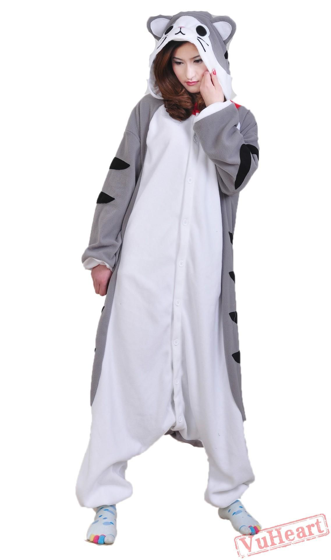 Cheese Cat Kigurumi Onesies Pajamas Costumes for Women   Men ... 4dbc5fb28