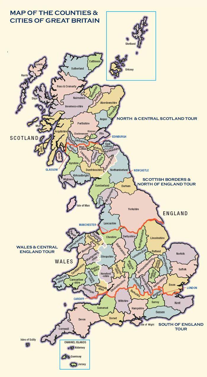 Equerry D Travellers Mapa Politico Gran Bretaña Mapas