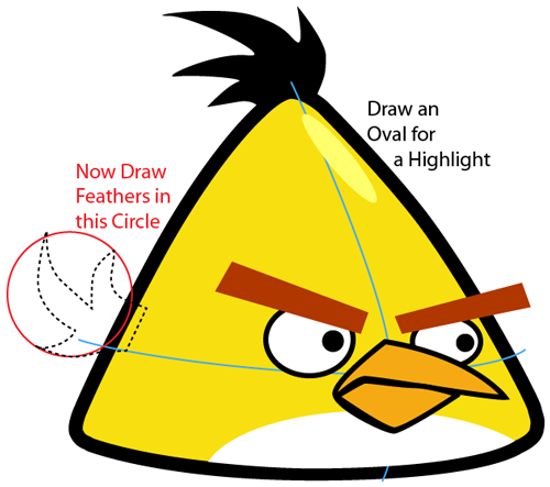 How to draw yellow angry bird with easy step by step drawing tutorial how to draw step by step drawing tutorials