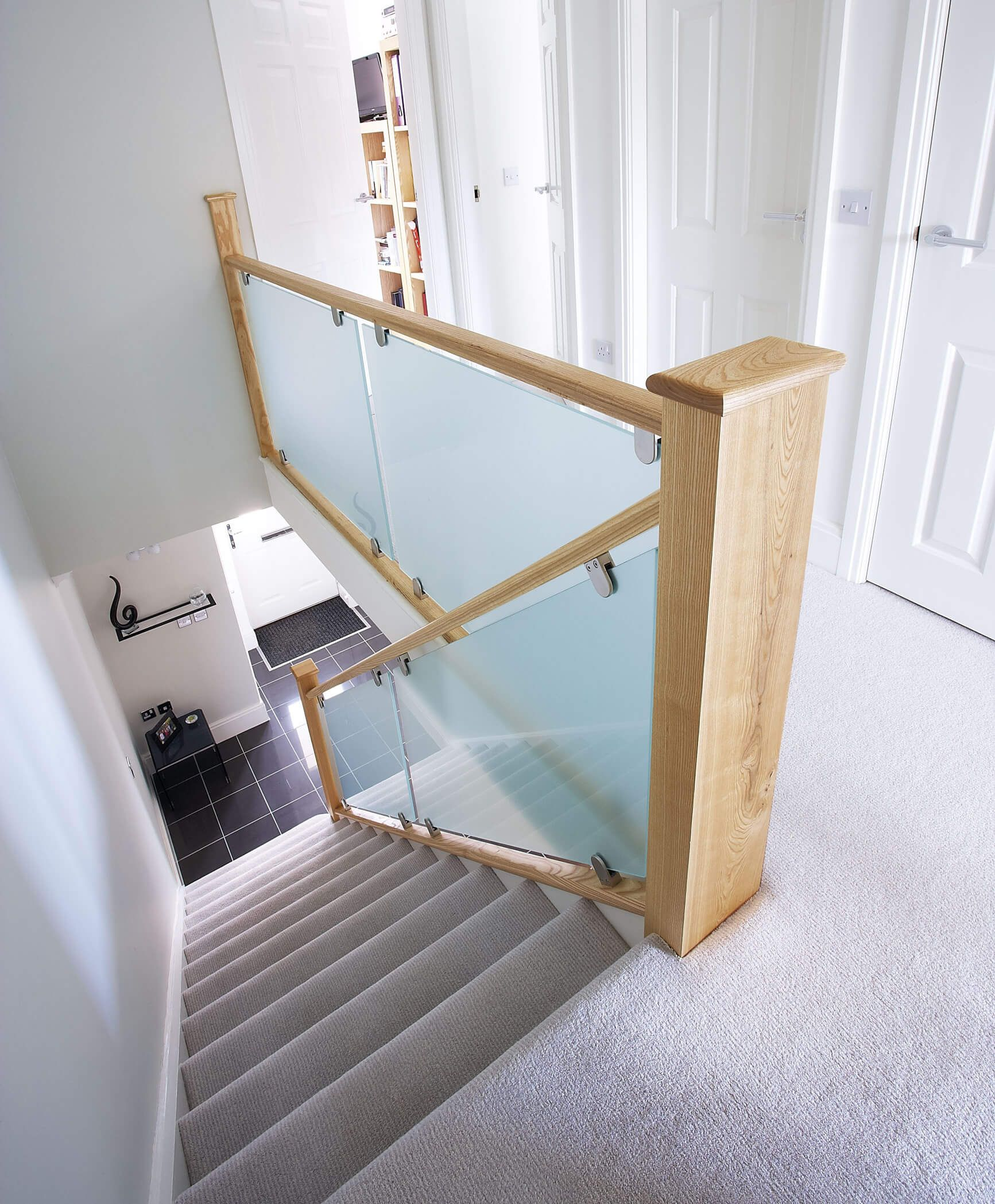 Best Frosted Glass Staircase Staircase Contemporary Loft 400 x 300