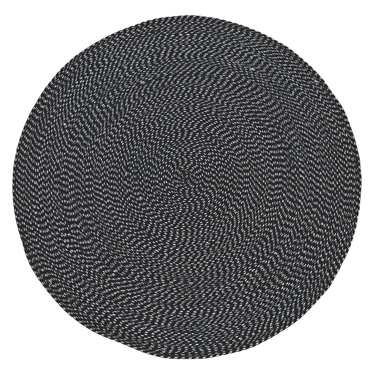 Foster Round Black And White Cotton Rug D150cm Now At Habitat Uk
