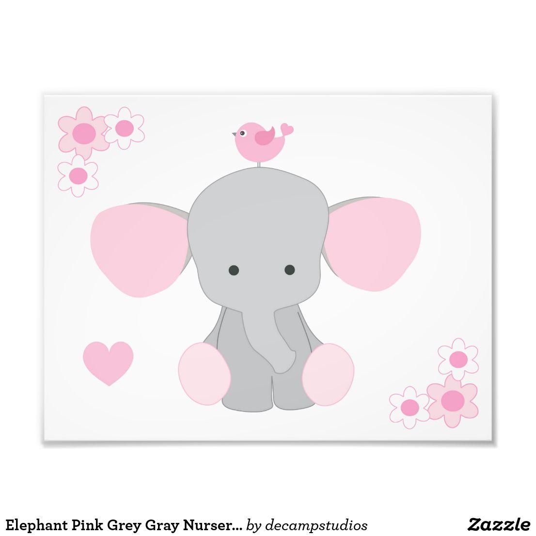 Elephant Pink Grey Gray Nursery Baby Girl Wall Art  sc 1 st  Pinterest & Elephant Pink Grey Gray Nursery Baby Girl Wall Art | Nurseries baby ...
