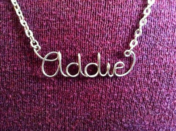Personalized Wire Name Necklace or Word Necklace by JoRasDesigns ...
