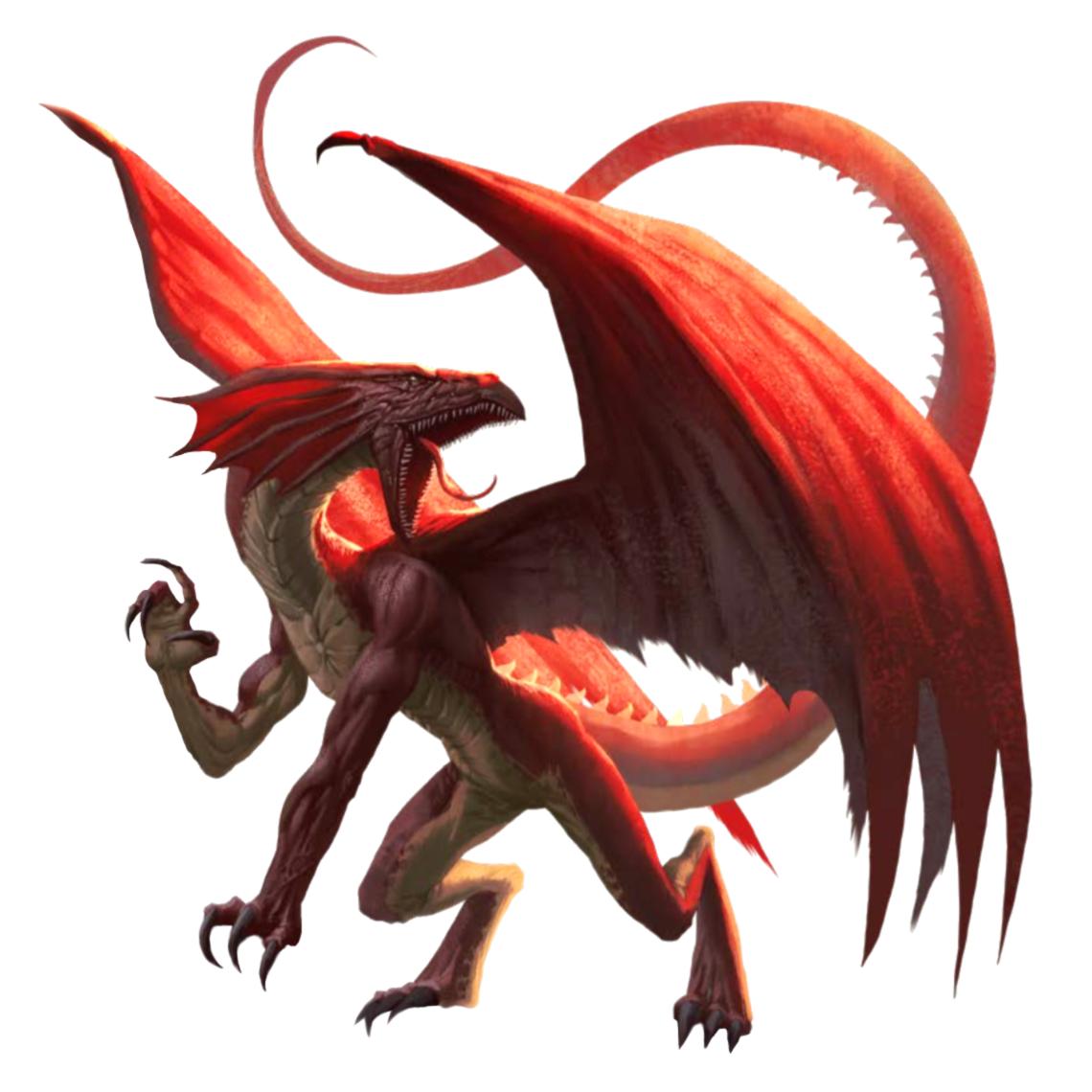 Dnd Red Dragon: Pathfinder PFRPG DND D&D 3