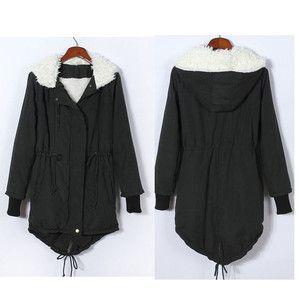 Thicken Fleece Warm Winter Coat Zip Hooded Parka Womens Overcoat Long Jacket O   eBay