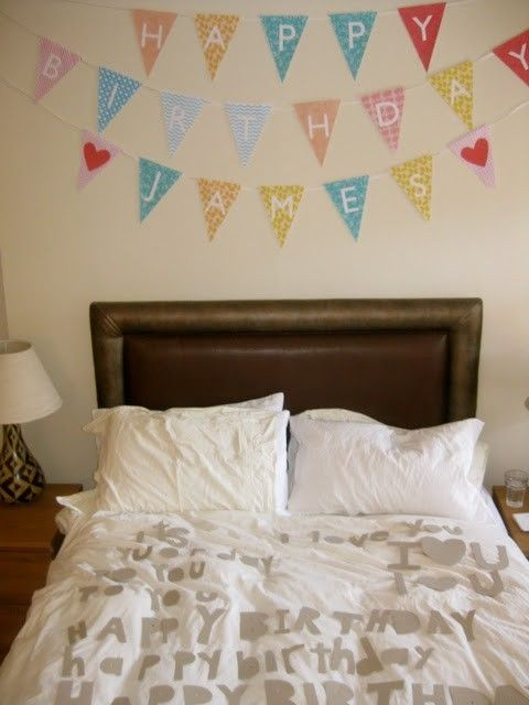 decorating the bedroom for my boyfriend's birthday doit