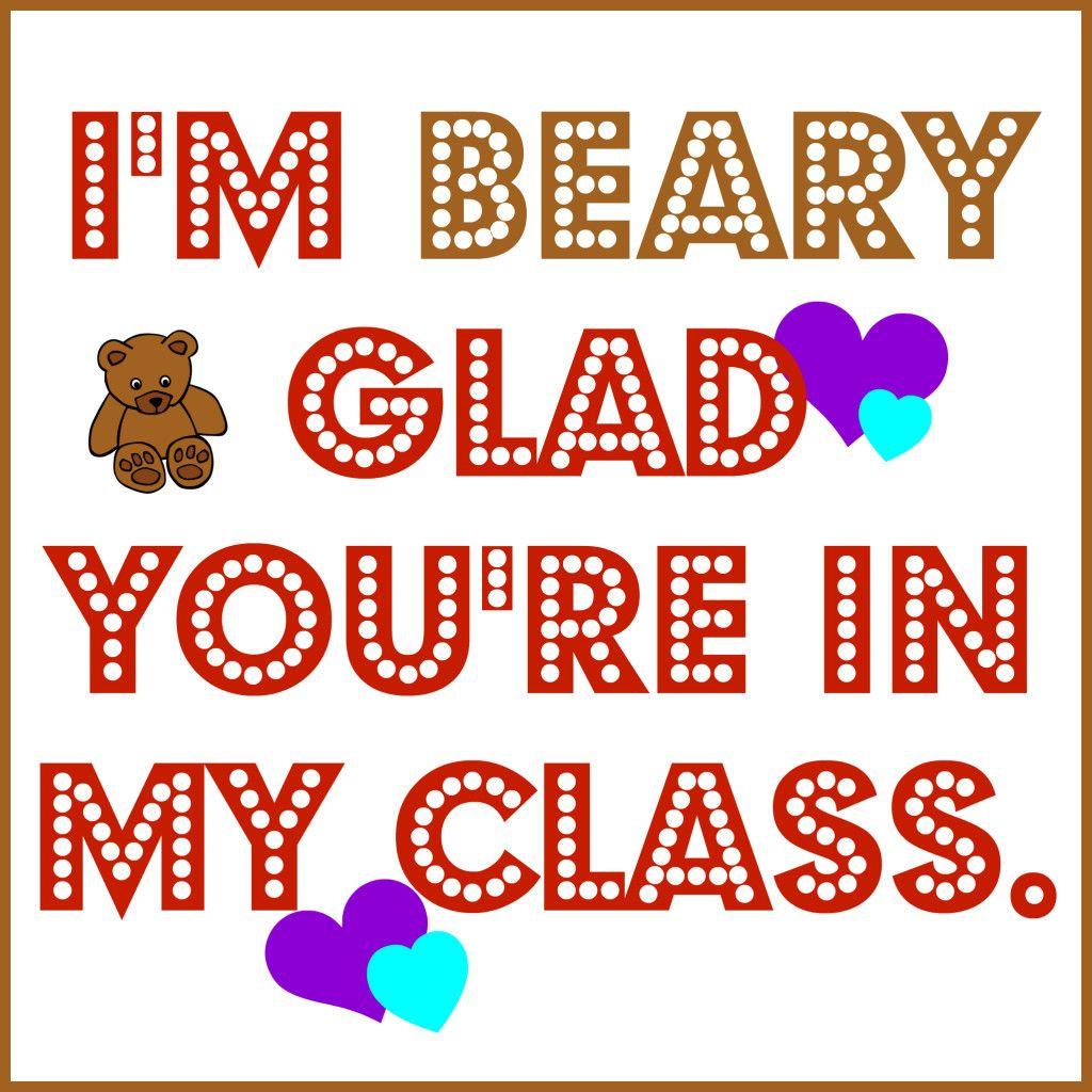 Printable Bear Valentines Cards