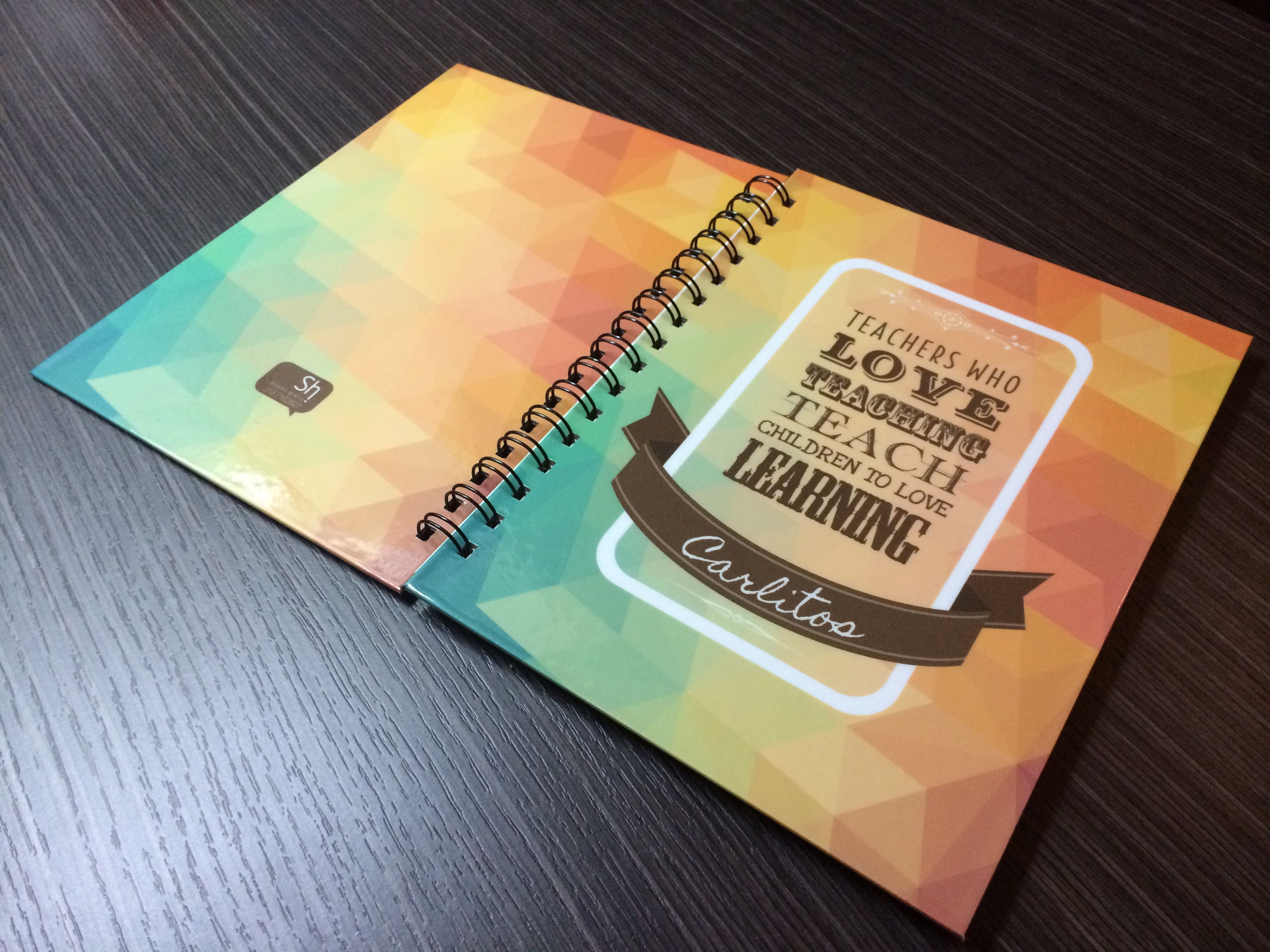 Notebook. Diseño personalizado. Teacher's day. Sh Design. Colombia.