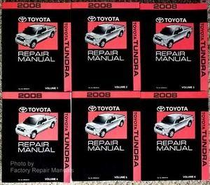 2008 toyota tundra factory service manual 6 volume set original rh pinterest com 2008 toyota tundra repair manual pdf 2006 toyota tundra repair manual