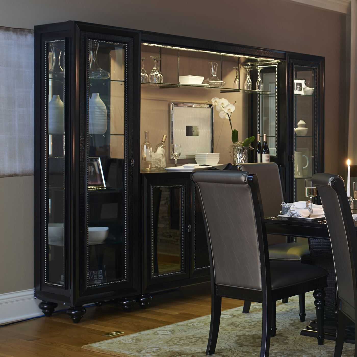Shop Najarian Furniture Ibiza Lighted China Cabinet At ATG Stores Browse Our Buffets Sideboards
