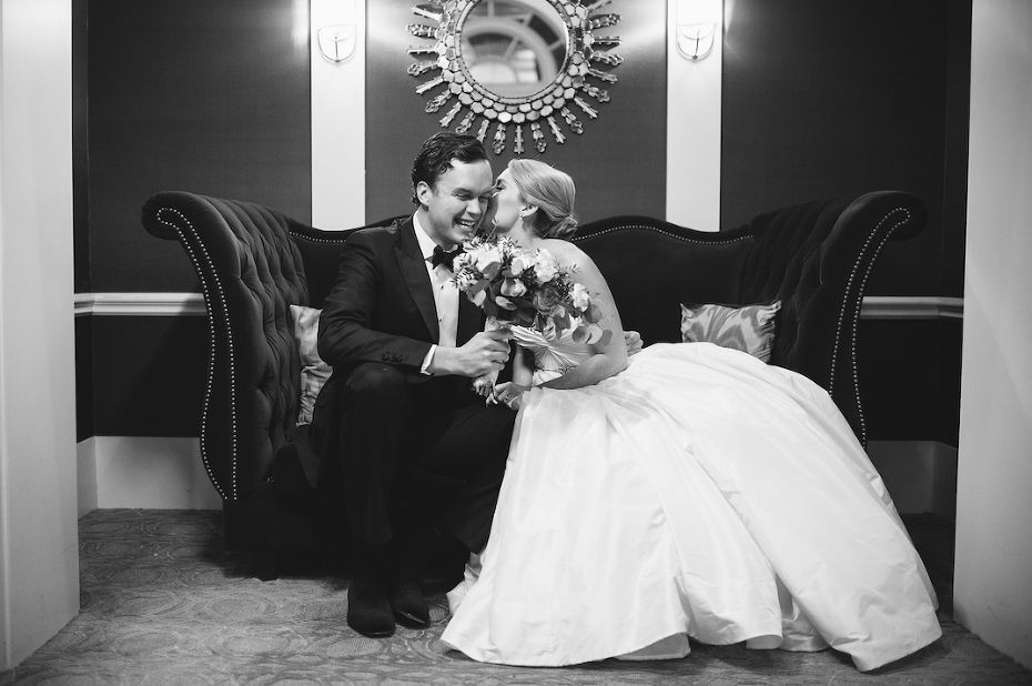 A wedding is photographed at the Fairmont Copley in Boston, MA by Karen Kelly Photography.  www.kkpforlife.com