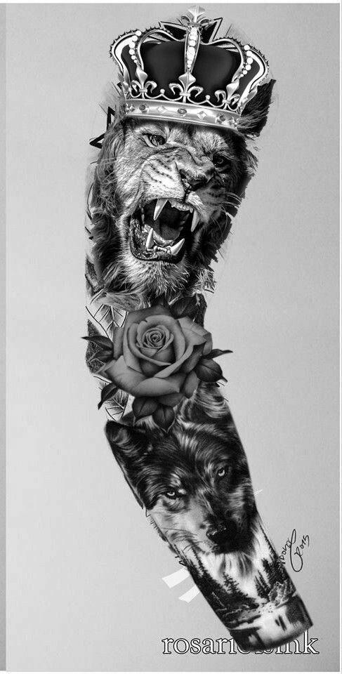 Zefs13 Lion Tattoo Sleeves Wolf Tattoo Sleeve Realistic Tattoo Sleeve