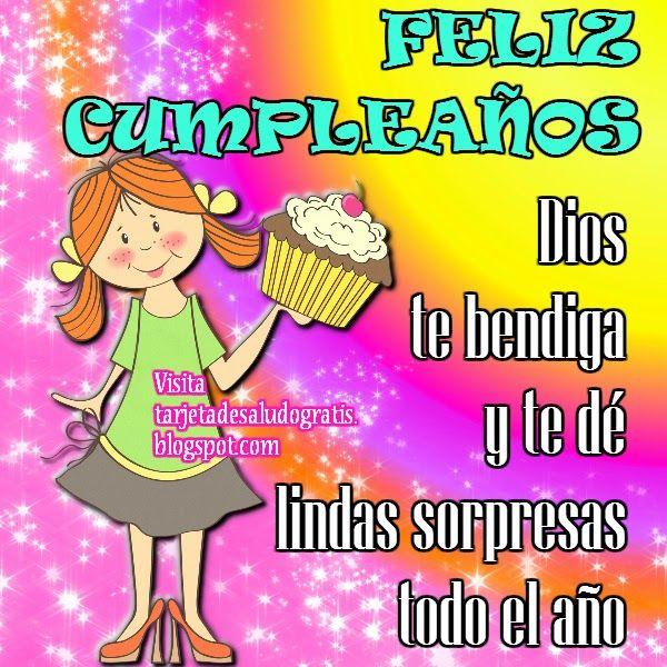 Imagen de cumpleaños para compartir en facebook Felicitaciones Pinterest Birthday