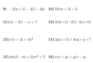 Expanding brackets and collecting like terms worksheet (with ...