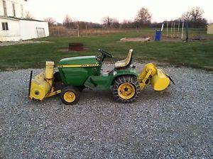 Good John Deere Garden Tractor Tillers | Details About John Deere 210 Garden  Tractor W/ Snowblower