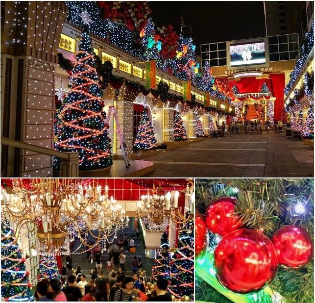 Christmas Decorations In Tsim Sha Tsui Hongkong