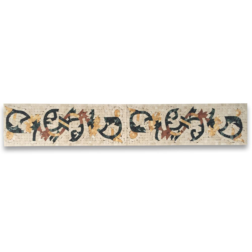 Spring Botticino 6.3x18.1 Marble Mosaic Border Listello Tile Polished Stone Center Online