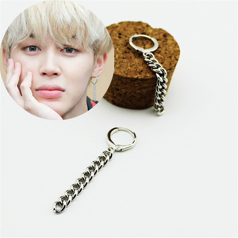 1 Pair Silver Tel Bts Jimin Stud Earrings Kpop Korean Dangle Pendant Jewelry Ebay