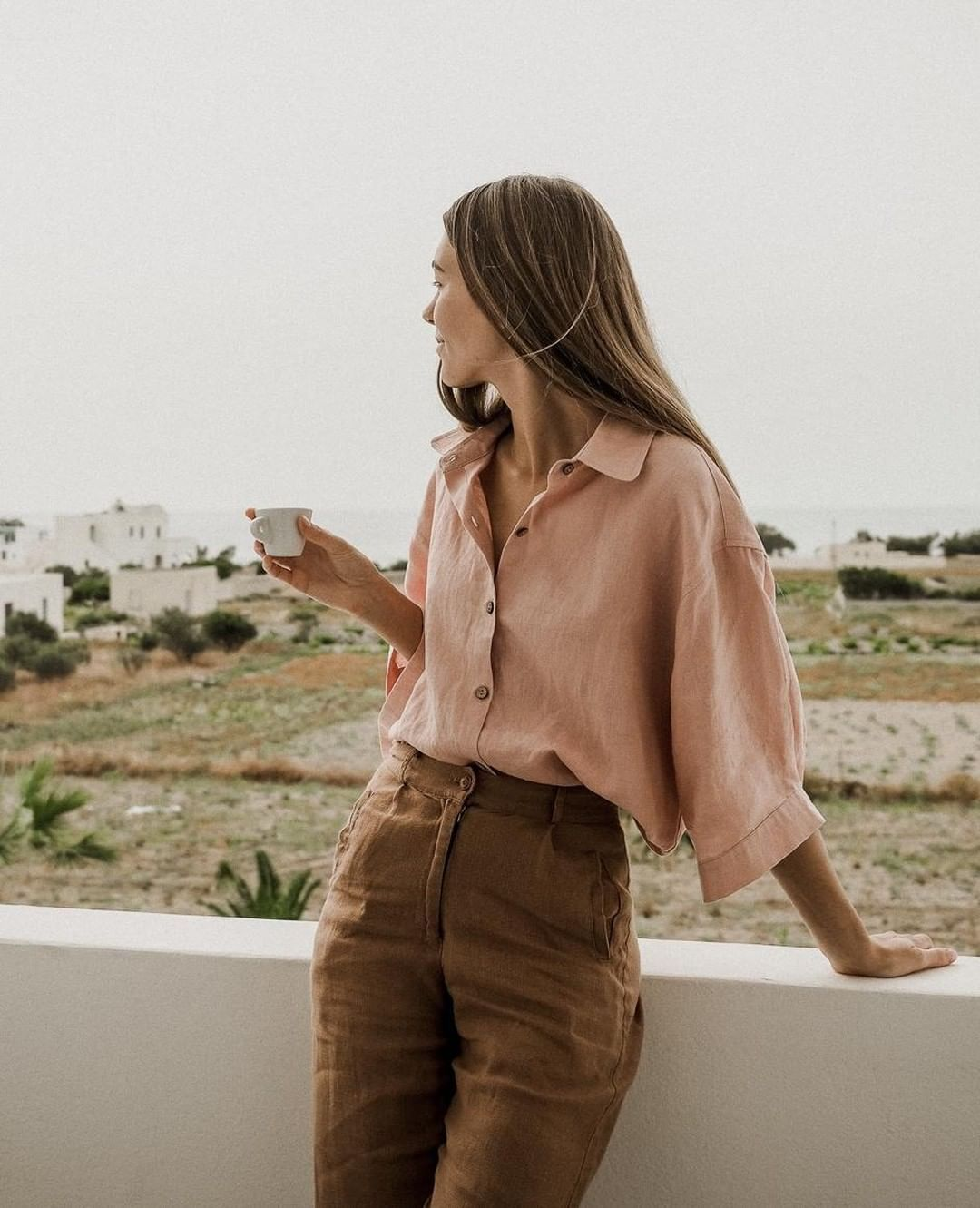 "I LOVE LINEN on Instagram: ""From the lens of @chelseyrouen our Ruby Shirt went on a little holiday to Greece! See her adventures now up on the blog"